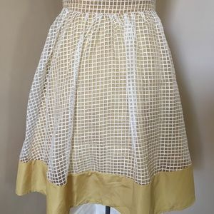 Anthropologie Comme Toi Gingham ALine Midi Skirt S